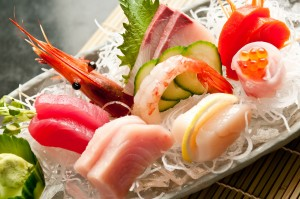 Try our chef's selection of assorted sashimi